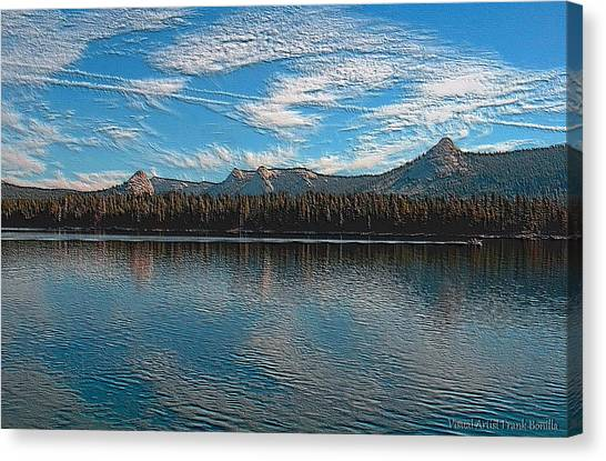 Canvas Print featuring the digital art Courtright Reservoir Version II by Visual Artist Frank Bonilla
