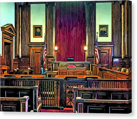 Courtroom Canvas Print
