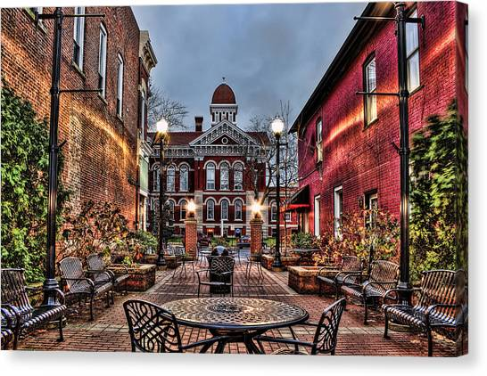 Courtyard Courthouse Canvas Print