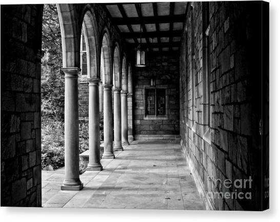Central Michigan University Canvas Print - Courtyard View by Chris Fleming