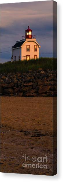 Prince Edward Island Canvas Print - Cousin's Shore Lighthouse Pei by Edward Fielding