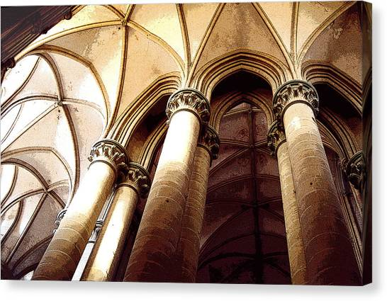Coutances Looking Up Canvas Print