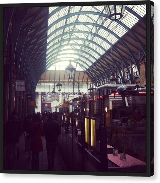 Parliament Canvas Print - Covent Garden Market by David  Simmons