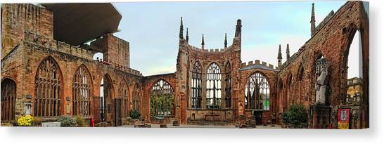 Coventry Cathedral Ruins Panorama Canvas Print