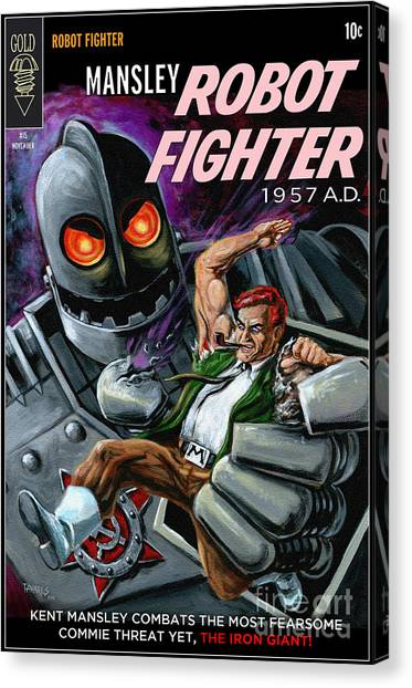 Cover To Mansley Robot Fighter Canvas Print