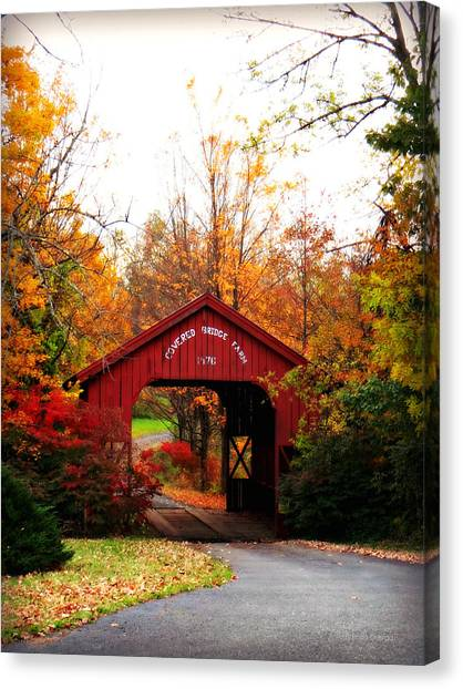 Covered Bridge Farm Canvas Print