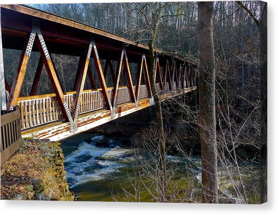 Covered Bridge In Roswell Canvas Print