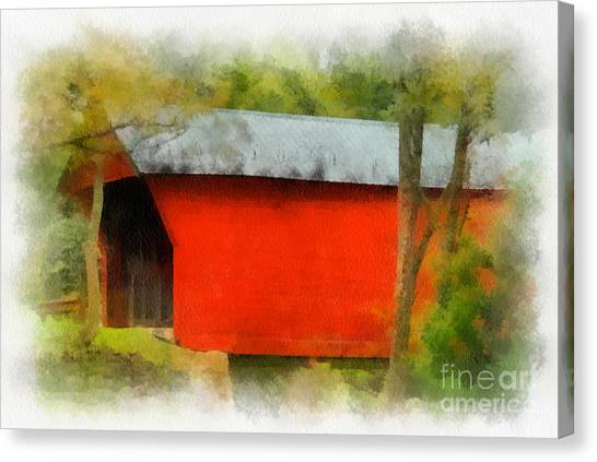 Covered Bridge - Sinking Creek Canvas Print