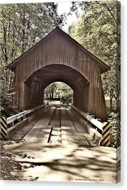 Covered Bridge Yachats Oregon Canvas Print