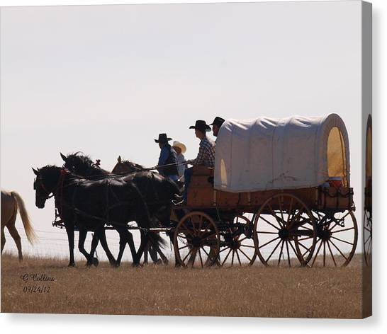 Covered Wagon Canvas Print