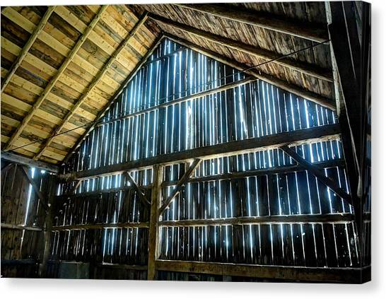 Cow Barn Canvas Print