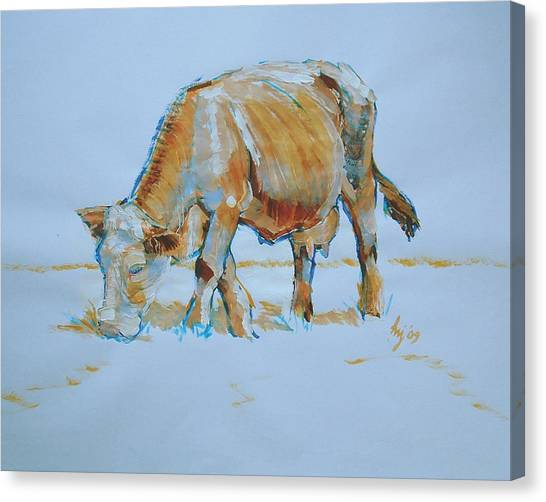 Cow Painting Canvas Print