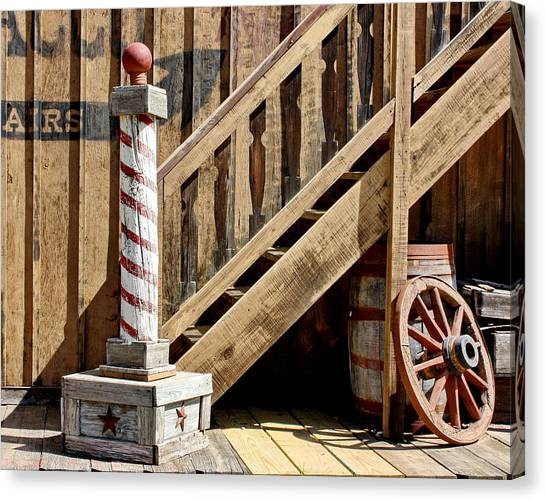 Cowboy Barbershop Canvas Print