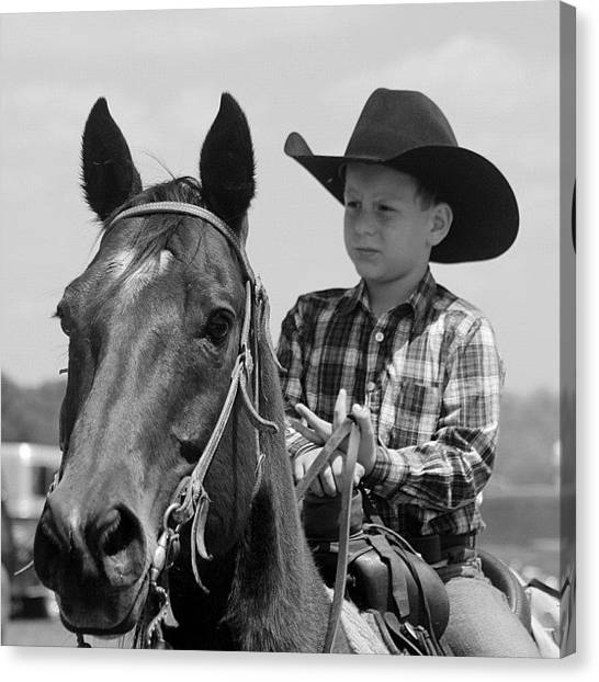 Rodeos Canvas Print - #cowboy #canon #bestoftheday #horse by Lisa Yow