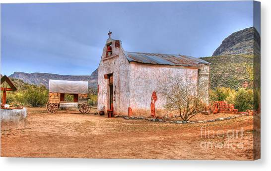 Cowboy Church Canvas Print