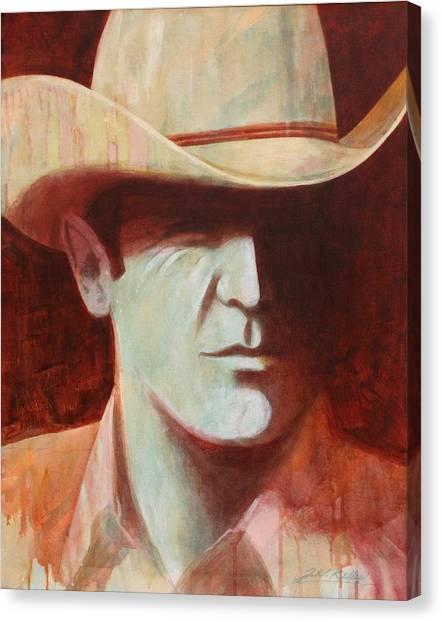Cowboy Canvas Print by J W Kelly