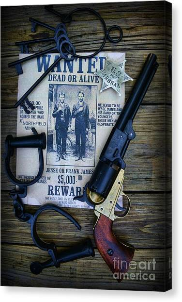 Texas Rangers Canvas Print - Cowboy - Law And Order by Paul Ward