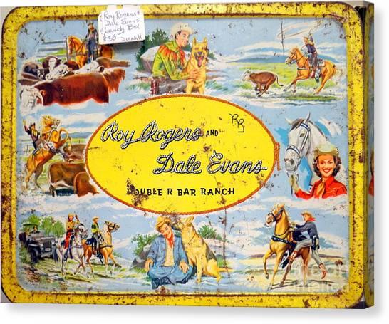 Cowboy Lunchbox Canvas Print