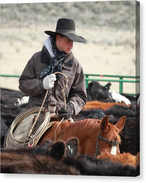 Cowboy Signature 9 Canvas Print
