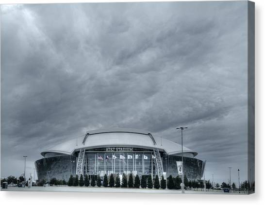 Superbowl Canvas Print - Cowboy Stadium by Joan Carroll