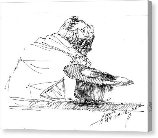 Cowboy Canvas Print - Cowboy Taking A Break  by Ylli Haruni