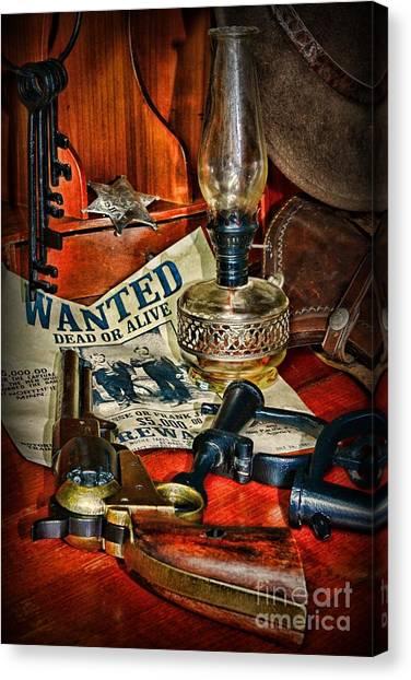 Texas Rangers Canvas Print - Cowboy - The Sheriff by Paul Ward