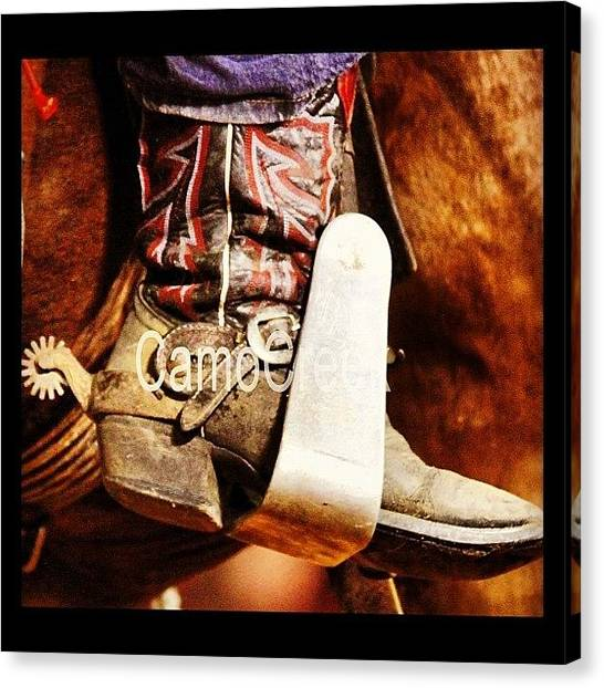 Spurs Canvas Print - #cowboyboot #spurs by Lisa Yow
