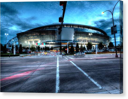 Dallas Cowboys Canvas Print - Cowboys Stadium Pregame by Jonathan Davison