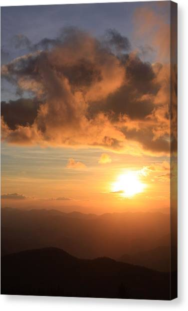 Cowee Mountains Sunset - Blue Ridge Parkway Canvas Print