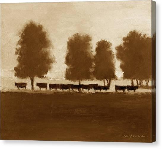 Cowherd Canvas Print