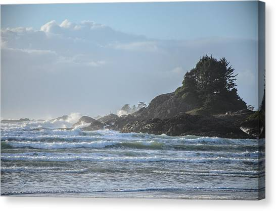 Cox Bay Afternoon Waves Canvas Print