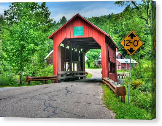 Cox Brook Bridge Canvas Print