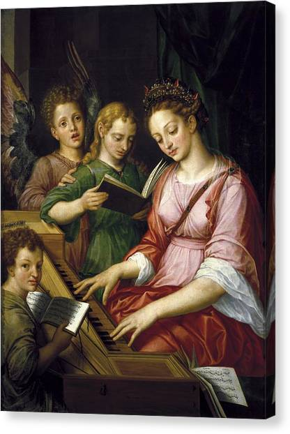 Harpsichords Canvas Print - Coxcie, Michel 1499-1592. Saint by Everett