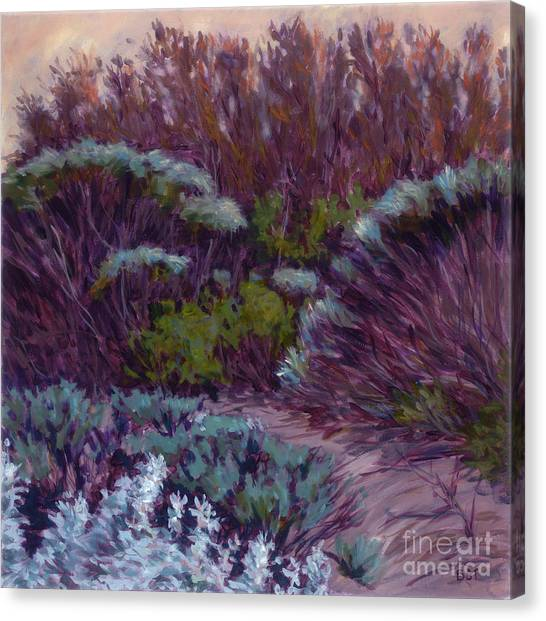 Coyote Brush And Willows Canvas Print