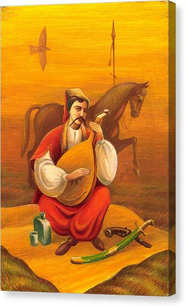 Cossack Mamay Canvas Print