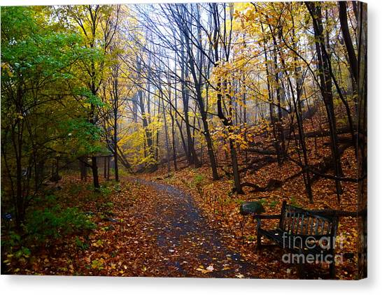Cozy Fall Corner Canvas Print