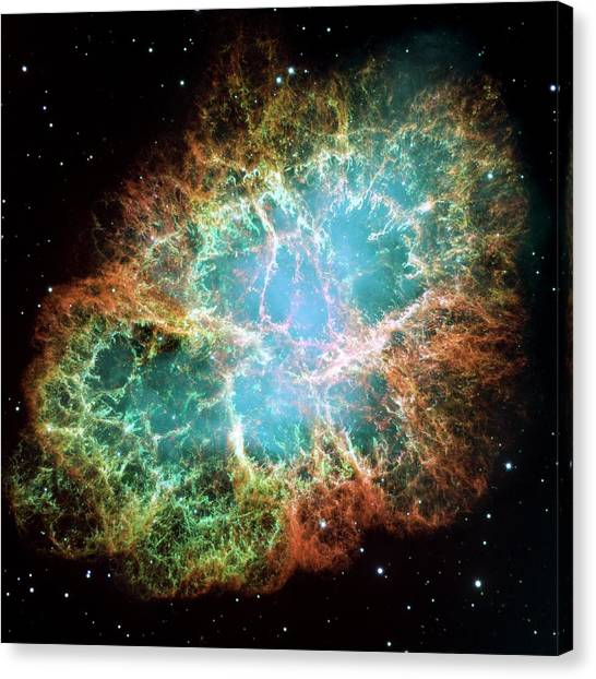 Canvas Print - Crab Nebula (m1) by Nasaesastscij.hester & A.loll, Asu