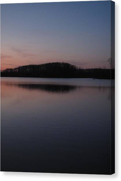 Crab Orchard Lake At Peace - 1 Canvas Print