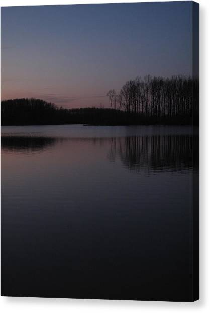 Crab Orchard Lake At Peace - 2 Canvas Print