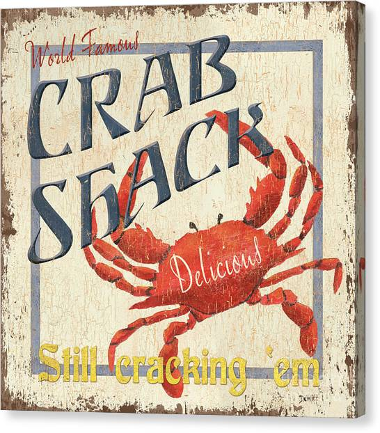 Ocean Animals Canvas Print - Crab Shack by Debbie DeWitt