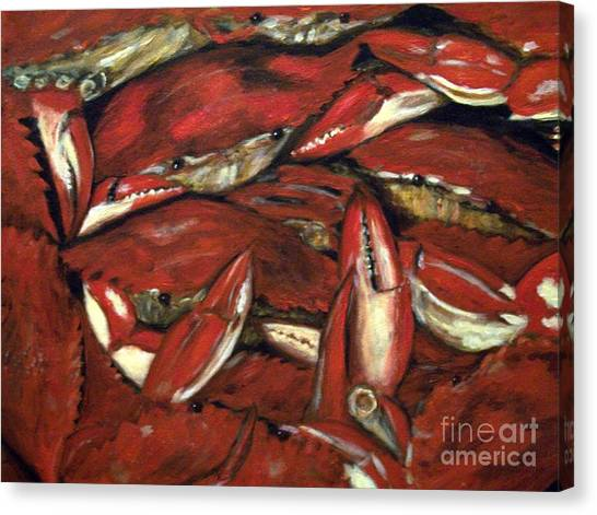 Crab Stack Canvas Print
