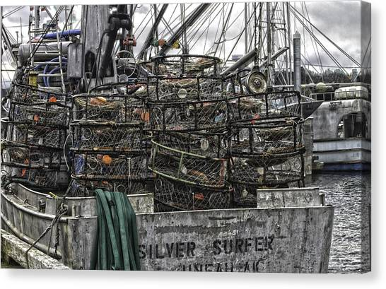 Crab Traps Canvas Print