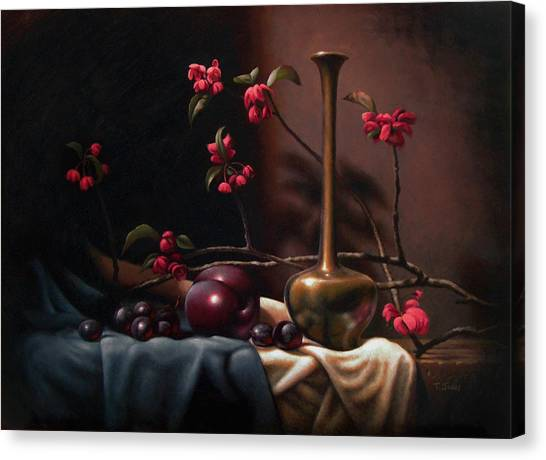 Crabapple Blossoms Canvas Print by Timothy Jones