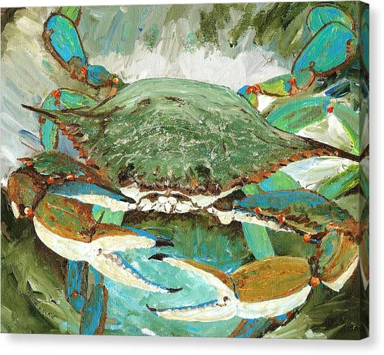 Crabbing Canvas Print - Crabnbowl by Keith Wilkie