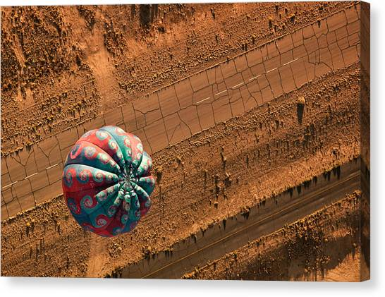 Hot Air Balloons Canvas Print - Cracked Highway by Keith Berr