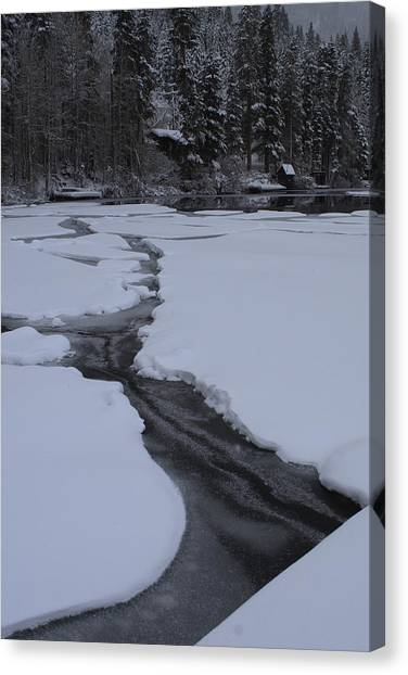 Cracked Ice  Canvas Print