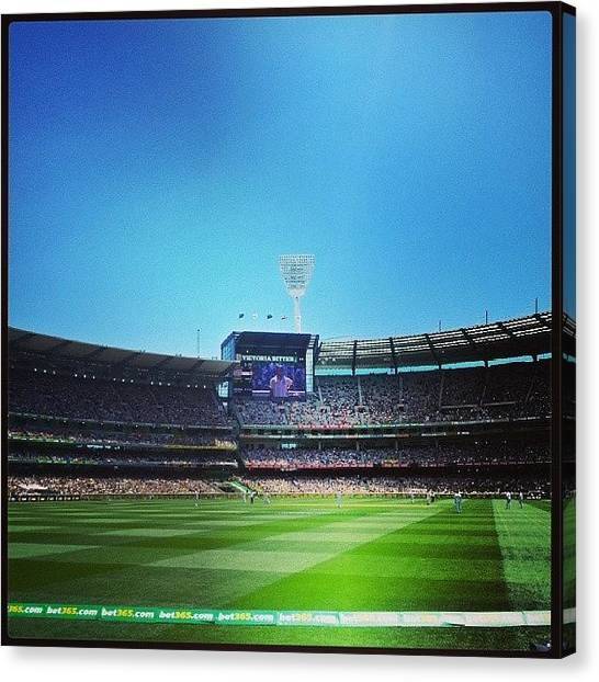 Ashes Canvas Print - Cracker Of A Day At The Cricket Today! by Krystofer Kot