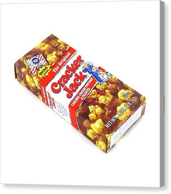 Popcorn Canvas Print - #crackerjack #popcorn #candy #foodporn by Mark Disko