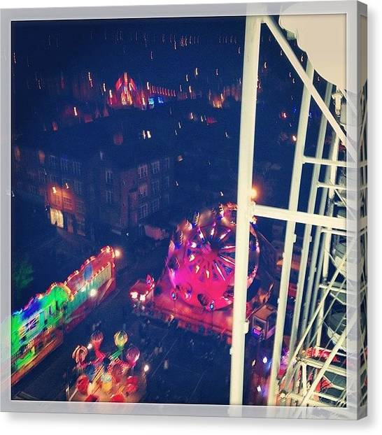 Vertigo Canvas Print - Cracking Time At The Fair With @elle by Rob Green