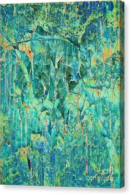 Cracks In Blue Canvas Print